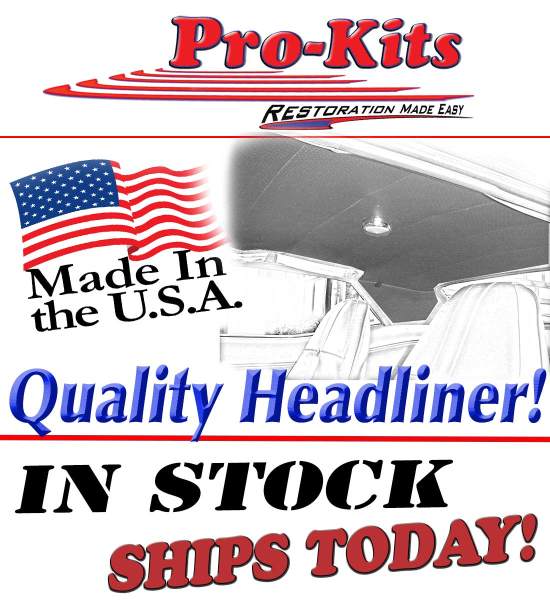 Mopar 68 69 70 Dodge Charger 6 Bow Headliner Perforated New In Stock 1941 Truck