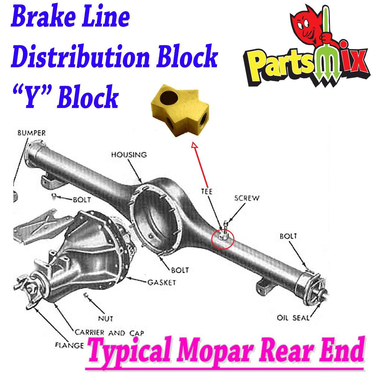 Mopar 71 72 73 74 E-Body Challenger Cuda Rear Axle Brake Hose Bracket  NEW