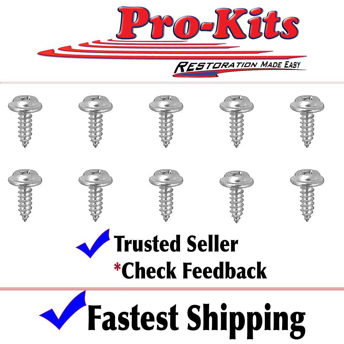 Fits A//B//C//E Body 10 pc Glove Box Screw Kit Cuda Charger Roadrunner Coronet NEW